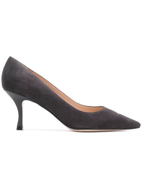 Stuart Weitzman Pointed Toe Kitten Heel Pumps - Farfetch
