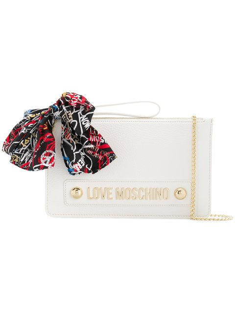 Love Moschino Branded Scarf Clutch - Farfetch