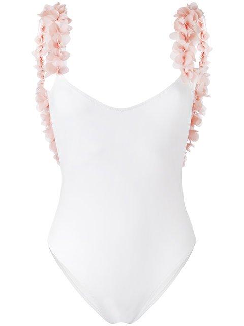 La Reveche Petals Applique Swimsuit  - Farfetch