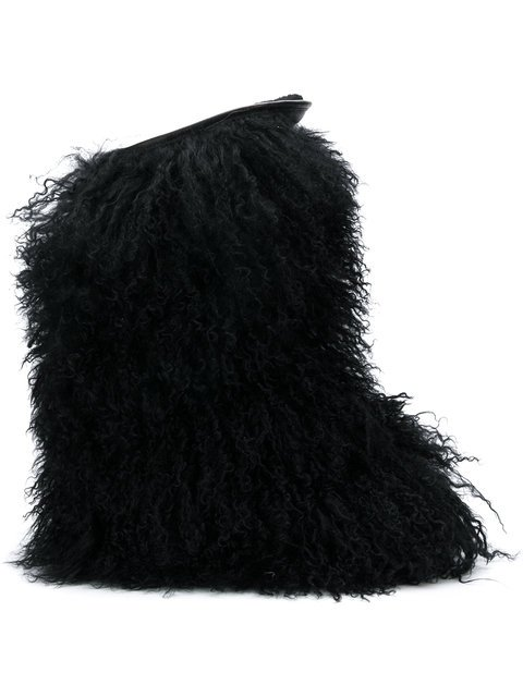 Saint Laurent Curly Furry Boots - Farfetch