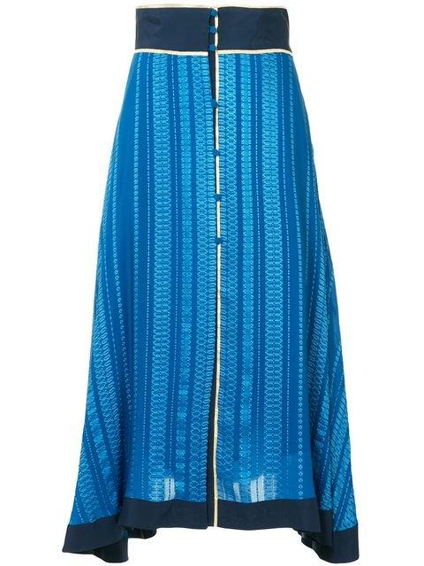 Zeus+Dione Patterned Asymmetric Skirt - Farfetch