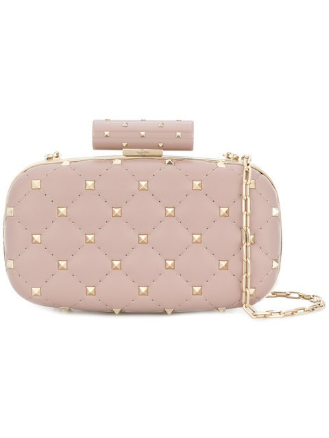 Valentino Rockstud Evening Clutch Bag - Farfetch