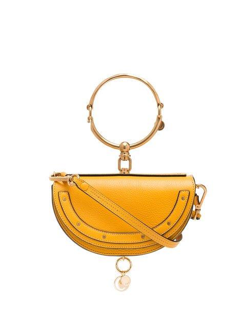 Chloé Yellow Nile Minaudière Leather Bracelet Bag - Farfetch