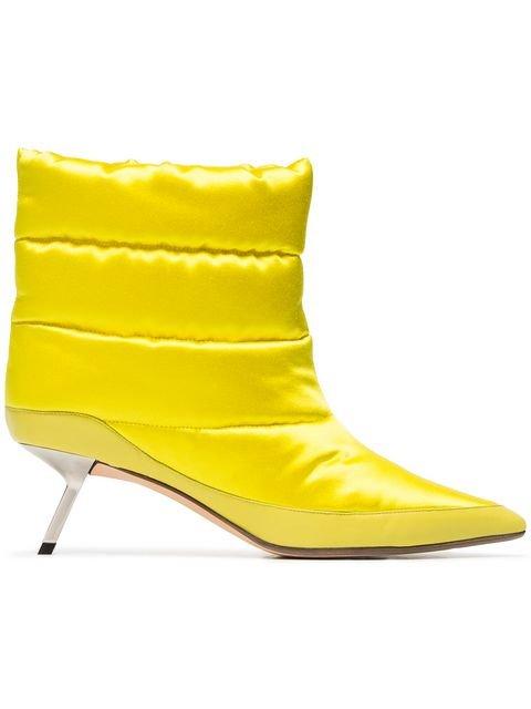 Alchimia Di Ballin Yellow Daphne 55 Satin Puffer Boots - Farfetch