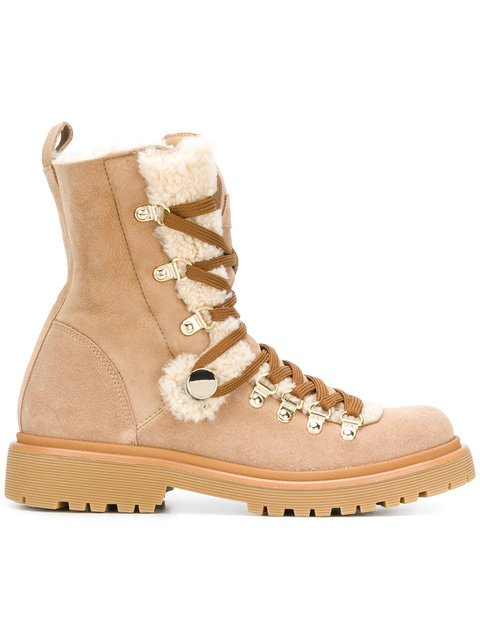 Moncler Shearling Lined Hiking-boots - Farfetch