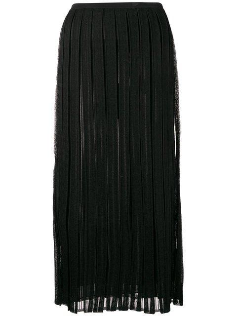 Salvatore Ferragamo Pleated Mid-length Skirt - Farfetch