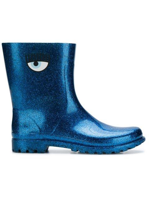 Chiara Ferragni Glitter Eye Printed Boots - Farfetch