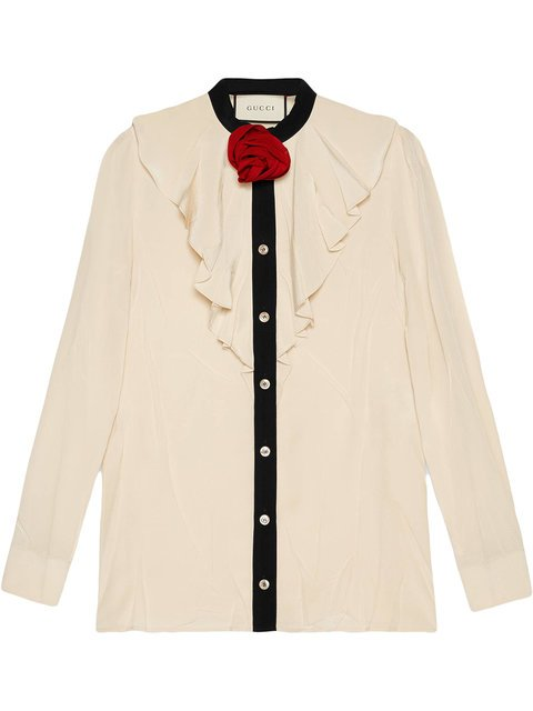 Gucci Silk Shirt With Ruffles - Farfetch