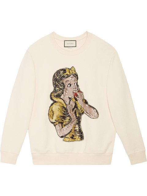 Gucci Sequin Snow White Sweatshirt - Farfetch