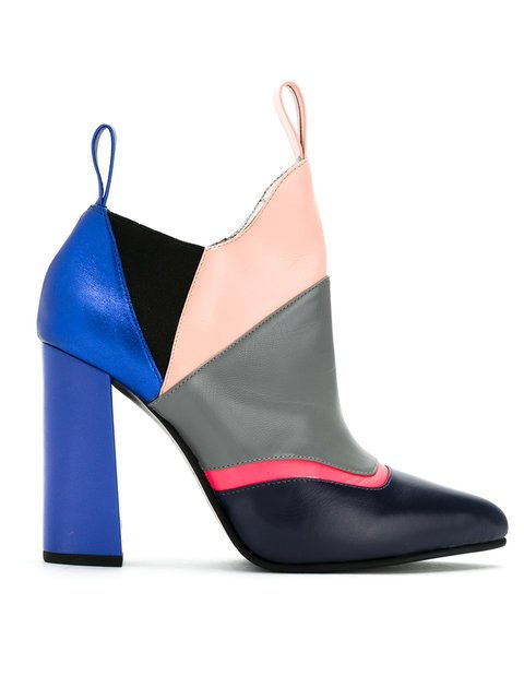 Studio Chofakian Color Blocked Ankle Boots - Farfetch