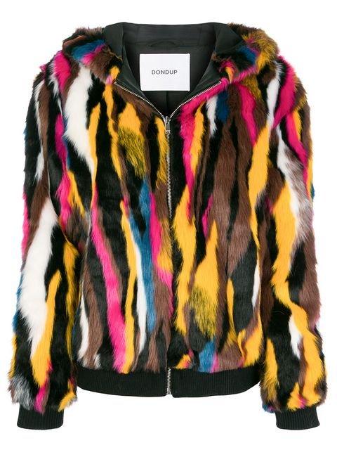 Dondup Patterned Faux Fur Jacket - Farfetch