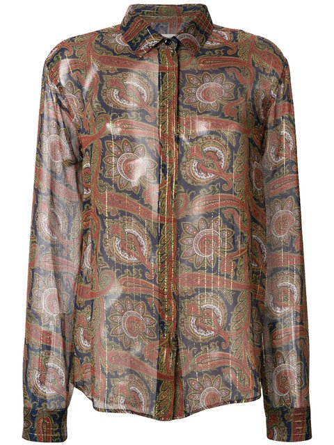 Saint Laurent Paisley Embroidered Shirt - Farfetch