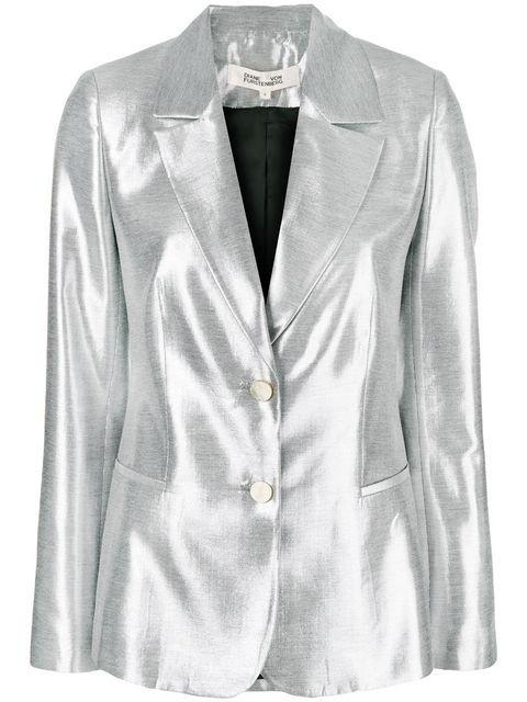 Dvf Diane Von Furstenberg Metallic Blazer - Farfetch