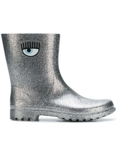 Chiara Ferragni Glitter Eye Logo Boots - Farfetch