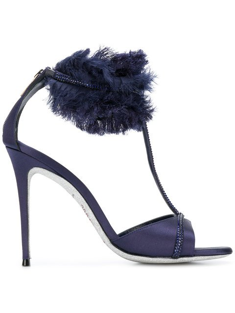 René Caovilla Textured Ankle Strap Sandals - Farfetch