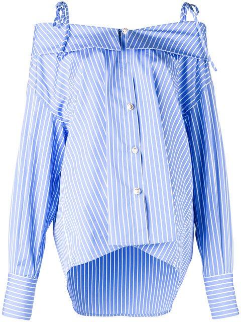 MSGM Off-the-shoulder Loose Shirt - Farfetch