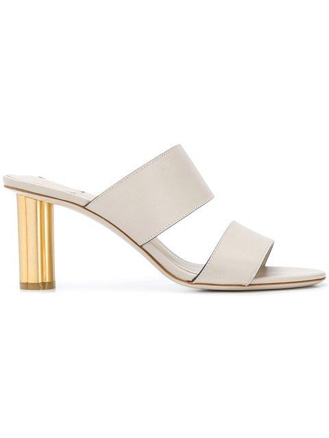 Salvatore Ferragamo Flower Heel Sandals - Farfetch