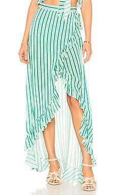 Waves For Days Wrap Skirt                                             Lovers + Friends