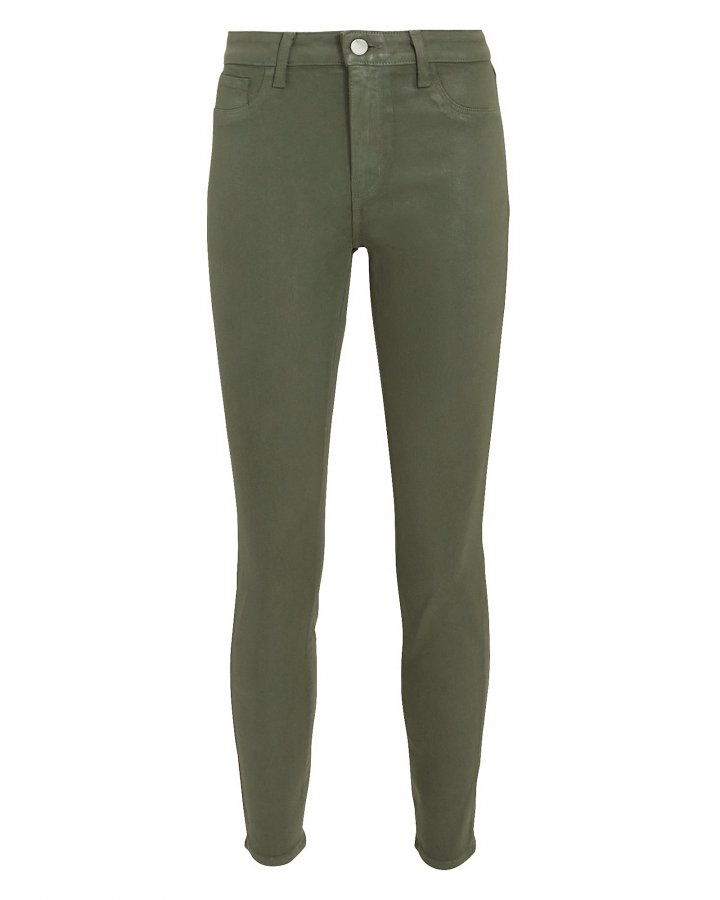 Margot Coated Green Jeans