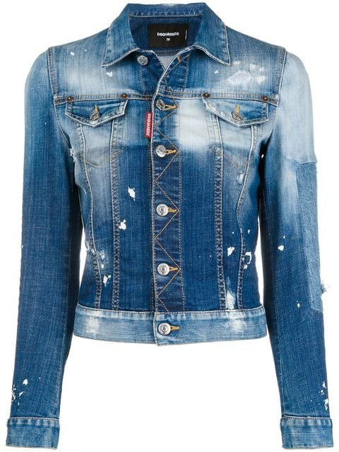 Dsquared2 Distressed Denim Jacket - Farfetch