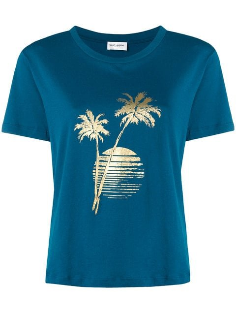 Saint Laurent Sunset Print T-shirt - Farfetch