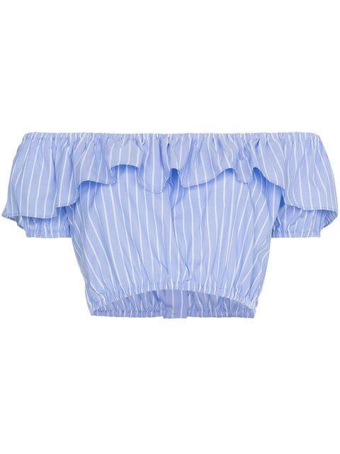 Miu Miu Off-shoulder Strap Cropped Top - Farfetch