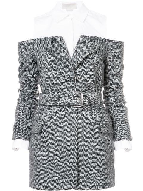 Monse Belted Herringbone Hybrid Jacket - Farfetch