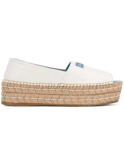 Prada Open-toe Flatform Espadrilles - Farfetch