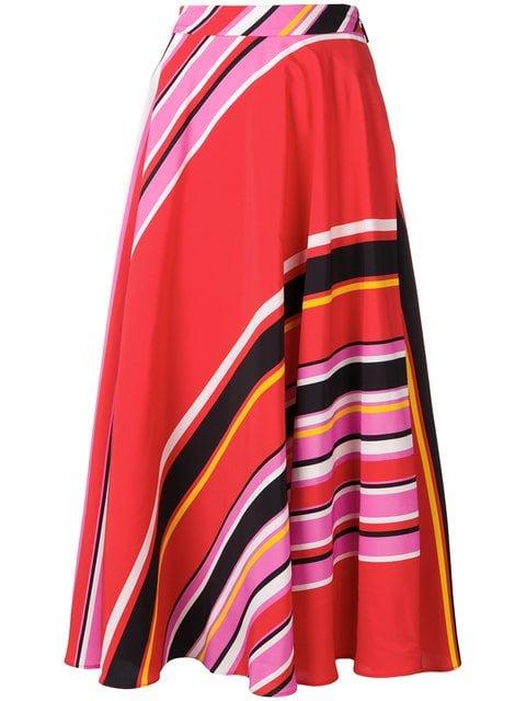 MSGM Striped Mid-length Skirt - Farfetch