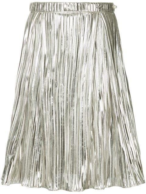 Ingie Paris Pleated Lamé Skirt - Farfetch