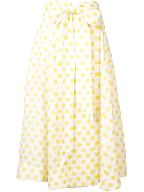 Lisa Marie Fernandez Polka Dot Full Skirt  - Farfetch