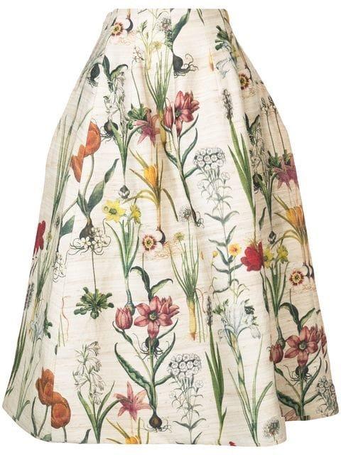 Oscar De La Renta Tea Length Full Party Skirt - Farfetch