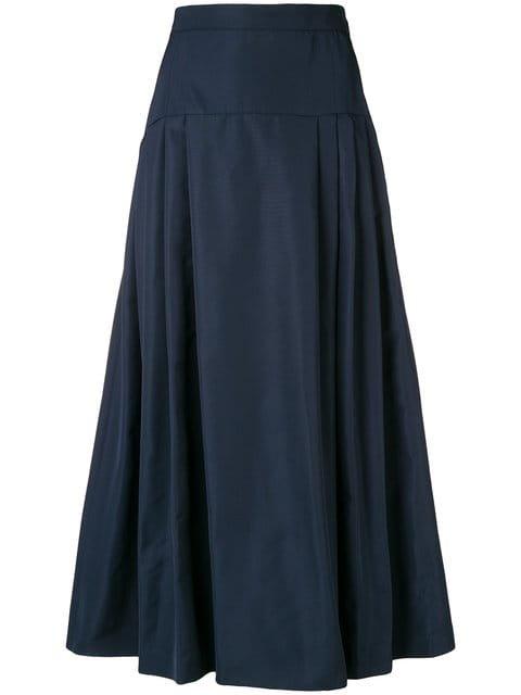 Max Mara Studio Gathered A-line Midi Skirt - Farfetch