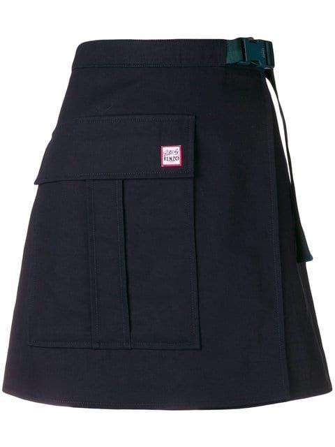 Kenzo Front Button A-line Skirt - Farfetch