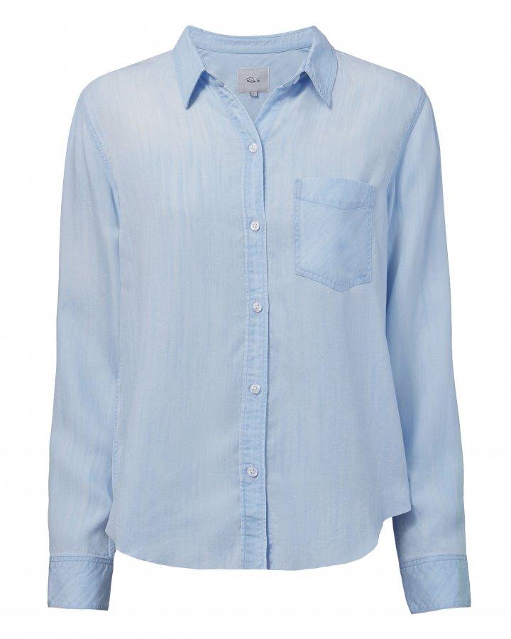 Ingrid Light Vintage Raw Hem Shirt