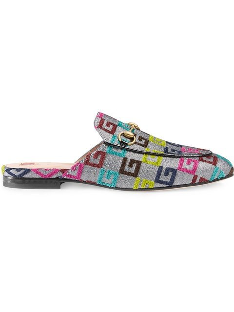 Gucci Princetown Velvet G Lurex Loafers - Farfetch
