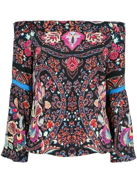 Etro Off-the-shoulder Printed Blouse - Farfetch