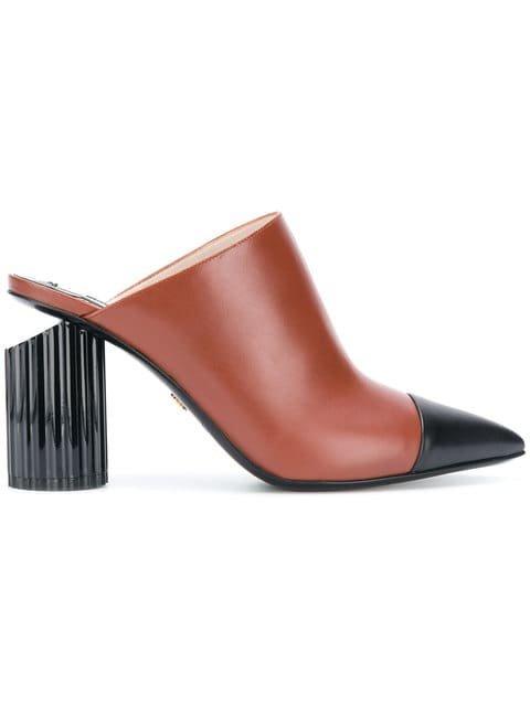 Roberto Cavalli Chunky Heel Mules - Farfetch