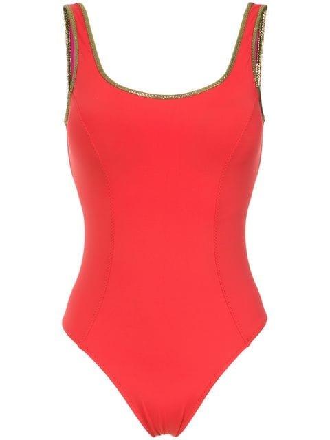 Amir Slama Gold-tone Trimming Swimsuit - Farfetch