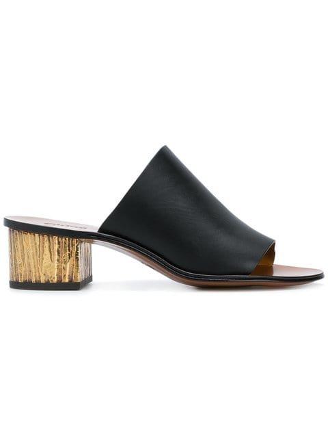 Chloé Low Block Heel Mules - Farfetch