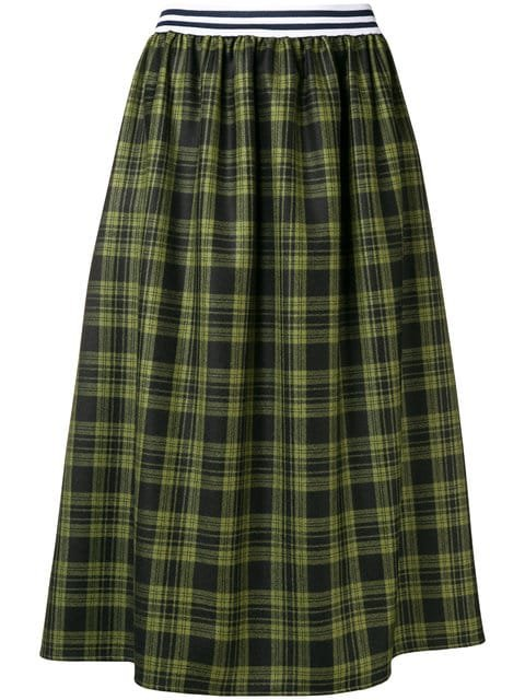 Ultràchic Tartan Flared Midi Skirt - Farfetch