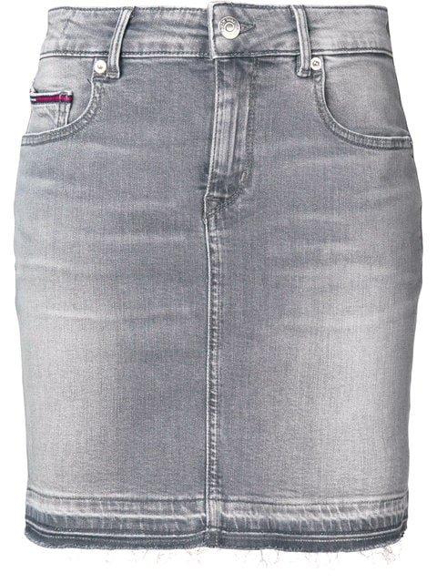 Tommy Jeans Stonewashed Denim Mini Skirt - Farfetch