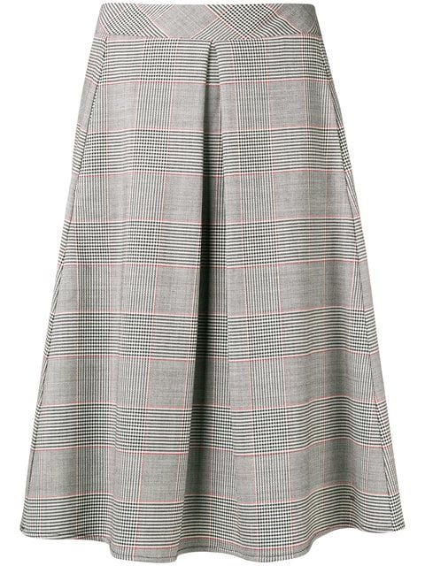 Ultràchic Tartan Pleated Midi Skirt - Farfetch