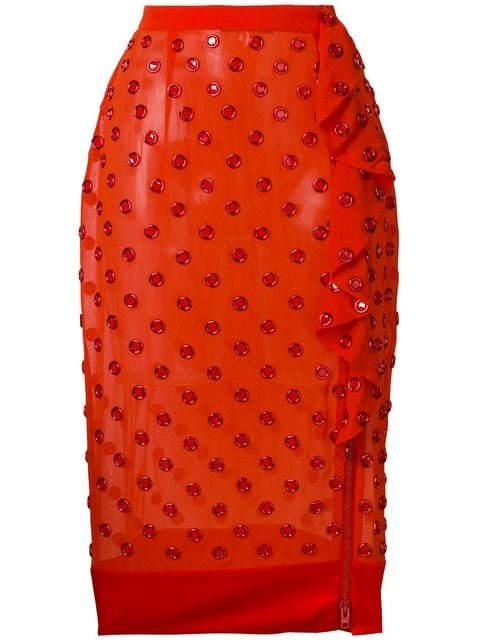 Givenchy Eyelet Embellished Midi Skirt - Farfetch