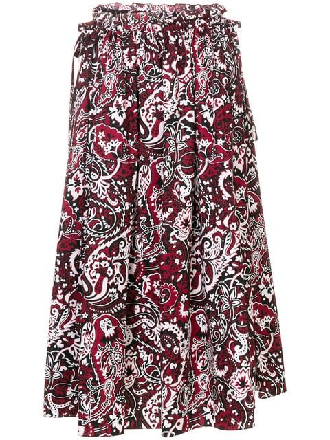 Kenzo Paisley Print Flared Skirt - Farfetch