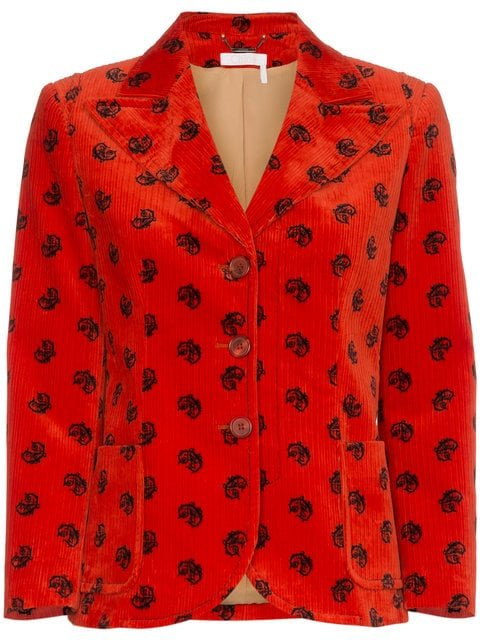 Chloé Velvet Horse Embellished Jacket  - Farfetch