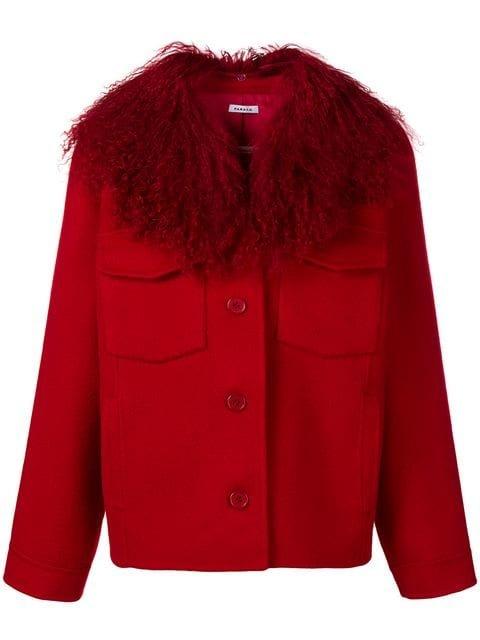 P.A.R.O.S.H. Fur Collar Single-breasted Jacket - Farfetch