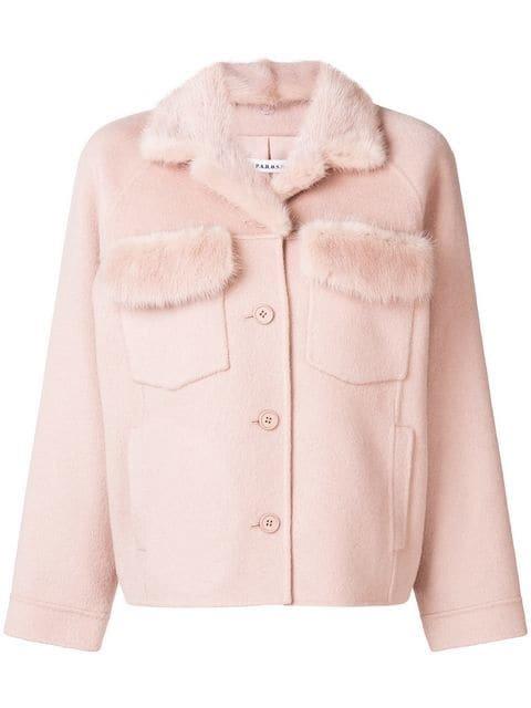 P.A.R.O.S.H. Fur Detail Buttoned Jacket - Farfetch