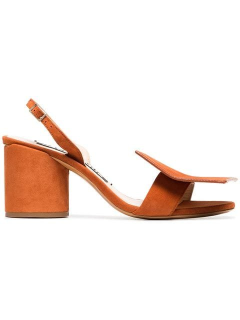 Jacquemus Orange Rond Carre 65 Leather Sandals - Farfetch