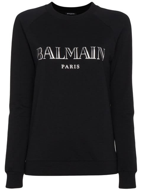 Balmain Long-sleeved Logo Sweatshirt - Farfetch